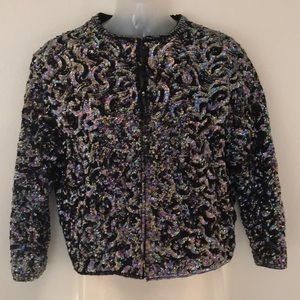 Vintage sequin jacket sz small